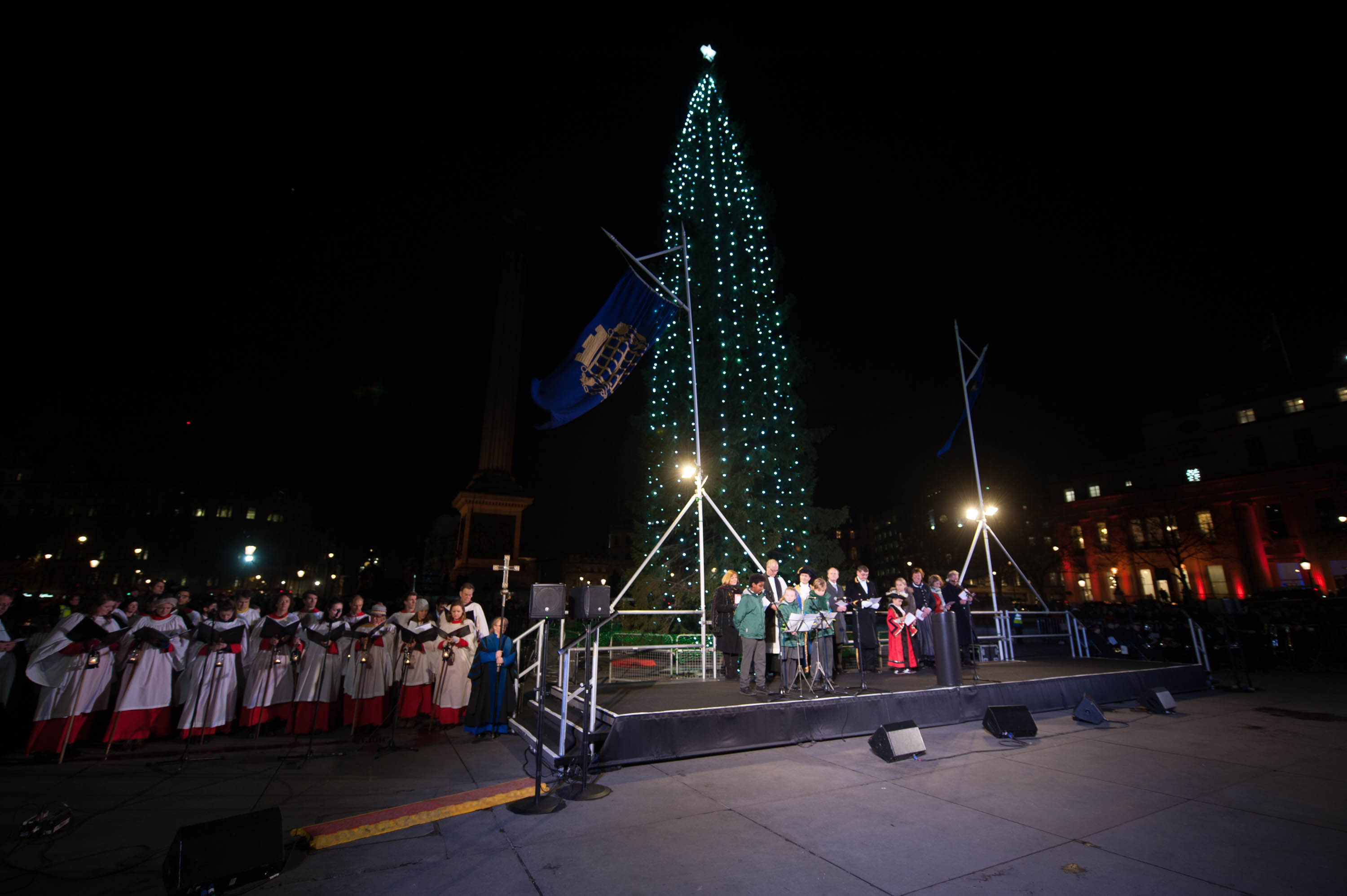 christmas tree at night at 2017's lighting up ceremony