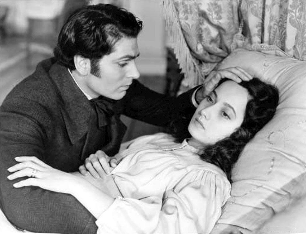 Sir Laurence Olivier and Merle Oberon in the 1939 film of Wuthering Heights.