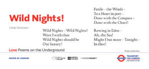 Wild Nights, Emily Dickinson poster