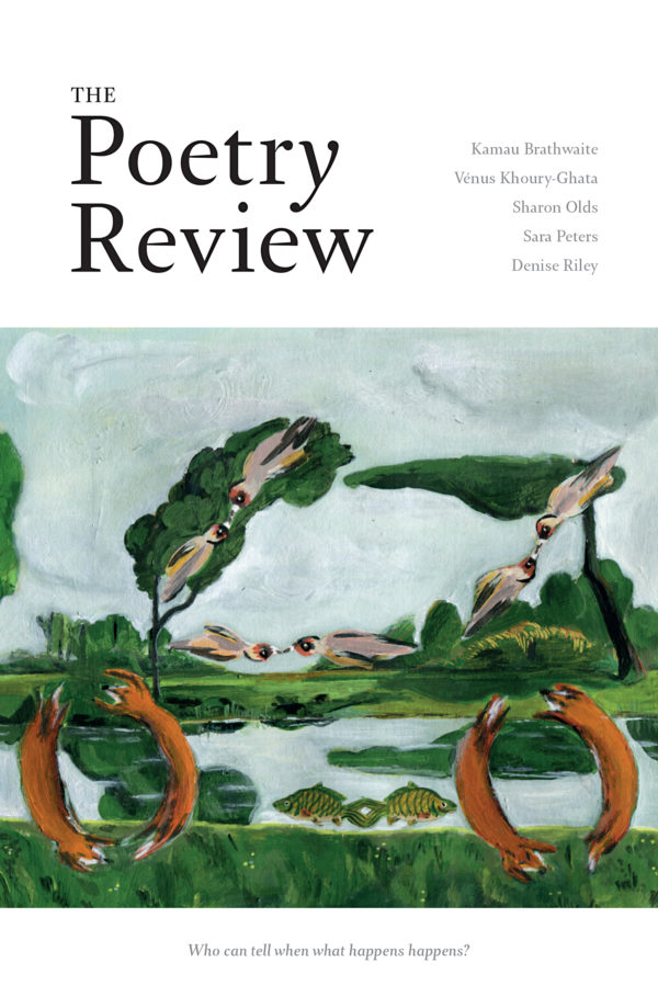 The Poetry Review 109:1 spring 2019 cover image.