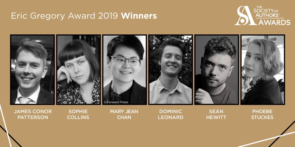 Eric Gregory Award winners 2019