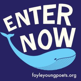 Enter Now badge with a blue whale