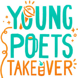 Young Poets Takeover logo with microphone through the O