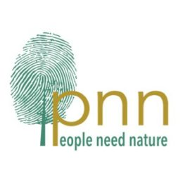 People Need Nature logo: a tree made out of a green thumbprint on a trunk